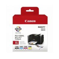 Multipack 4 cartuchos tinta canon pgi-1500xl - alta capacidad - cian - magenta - amarillo - negro - compatible con maxify