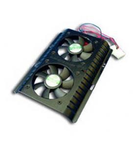 Cooler disco duro con 2 ventiladores - Imagen 1