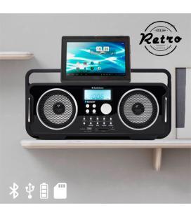 Radio Retro Bluetooth Recargable AudioSonic RD1556 - Imagen 1