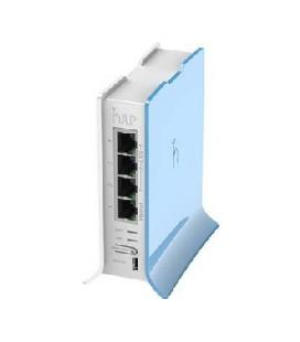 Mikrotik router board rb/941-2nd-tc hap lite formato torre 650mhz cpu 32mb ram 4xlan 2.4ghz 802b/g/n 2x2 wireless