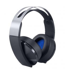 Auriculares inalámbricos sony platinum - 7.1 virtual - audio 3d - plegables - incluye conector 3.5mm - compatible ps4/pc/mac &