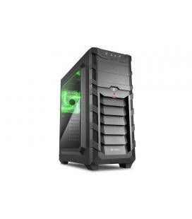Sharkoon SKILLER SGC1 WINDOW Verde carcasa de ordenador