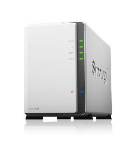Servidor nas synology disk station ds218j 512 mb 2 bahias raid ethernet gigabit