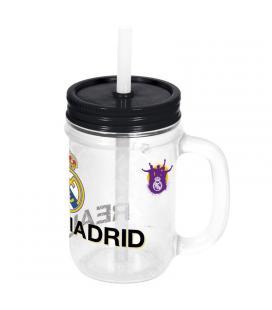 Jarra Real Madrid pajita