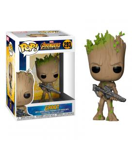 Figura POP! Marvel Avengers Infinity War Teen Groot with Gun - Imagen 1