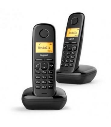 TELEFONO FIJO INALAMBRICO GIGASET A170 DUO NEGRO - Imagen 1