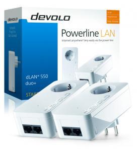 Devolo dLAN 550 duo+ Starter Kit PLC 500Mbit/s Ethernet Blanco 2pieza(s)