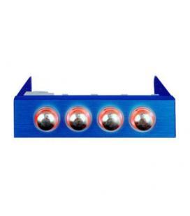 Revoltec RL019. Regulador de Ventilador 3.5, 4-canales, azul - Imagen 1