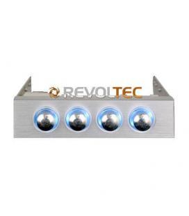 Revoltec RL020. Regulador de Ventilador 3.5, 4-canales, plata - Imagen 1