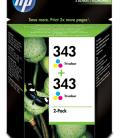 HP 343 Tri-colour Inkjet Print Cartridges 2-pack with Vivera Inks CB332EE - Imagen 10