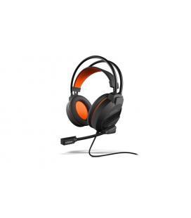 Krom Khami Binaurale Diadema Negro, Naranja auricular con micrófono - Imagen 1