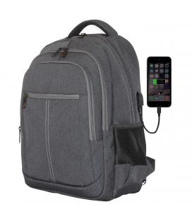 Mochila phoenix phbostonr para portatil hasta 15.6 pulgadas / con cable usb / viaje / gris