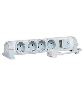 Regleta confort y seguridad legrand 694641 - 4x2p+t - indicador de consumo/limitador carga - cable de 1.5 metros - blanco