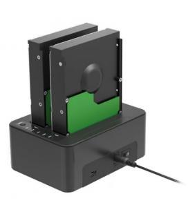 Sharkoon QuickPort Duo USB 3.1 (3.1 Gen 2) Type-C Negro - Imagen 1