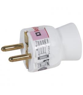 Clavija estándar legrand 050187 - 2p+t - 16a - salida recta - blanco