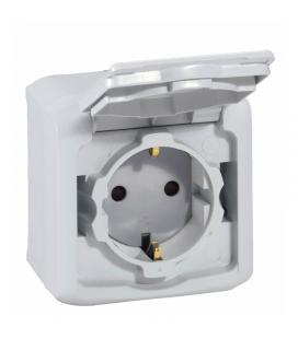 Base toma de superficie legrand forix 782393 - ip 44- 16a - 65x65x34.5 mm - gris