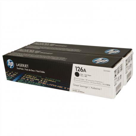TONER NEGRO HP Nº126A 2UNIDADESX1200PAGINAS - Imagen 1