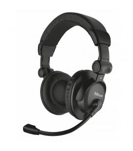 Auriculares con micrófono trust como - estéreo - volumen en auricular - almohadillas blandas y diadema ajustable - cable