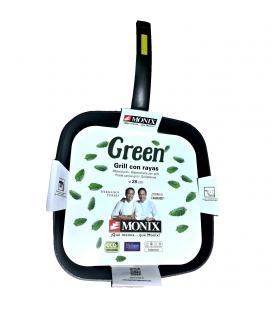 Asador grill monix green m481231 - 28 cm - con rayas