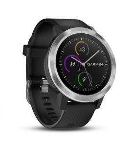 Reloj inteligente garmin vivoactive 3 acero inox y silicona negra - bluetooth - gps - notificaciones - frecuencia cardiaca -
