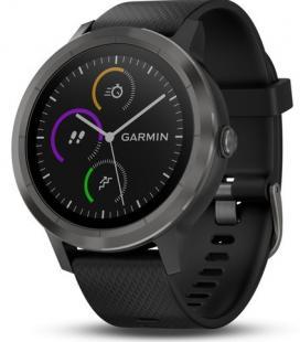 Reloj deportivo con gps garmin vivoactive 3 negro con correa silicona - bt - contactless garmin pay - multisport - frecuencia