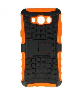 Carcasa de protección robusta para Samsung Galaxy J7 2016 negra-naranja