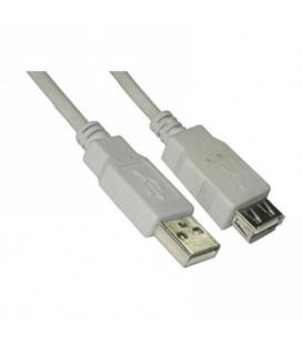 Nanocable 10.01.0202. Cable USB 2.0 Tipo A/M-A/H. Beige. 1.0m