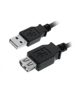 Nanocable 10.01.0202-BK. Cable USB 2.0. Tipo A/M-A/H. Negro. 1.0m