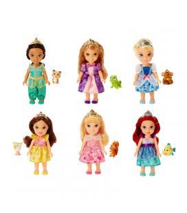 Muñeca Princesas Disney mascota 15cm surtido