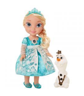 Muñeca Elsa Frozen Disney 35cm vestido luminoso