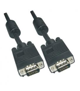 Cable SVGA con ferrita. HDB15/M-HDB15/M. 15m