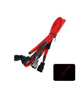 Phobya Ladrón x4 Molex 3-pin 60cm Rojo - Imagen 1