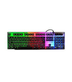 TECLADO THE G-LAB KEYZ-NEON/SP USB NEGRO
