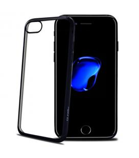 Funda de silicona para iPhone 7 Plus negra transparente