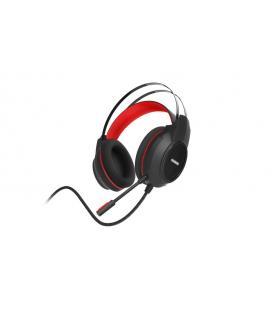 Ozone Ekho H30 Binaurale Diadema Negro, Rojo auricular con micrófono