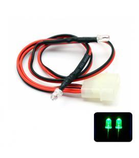 Phobya LED Doble 5mm. Ultrahell Verde - Imagen 1