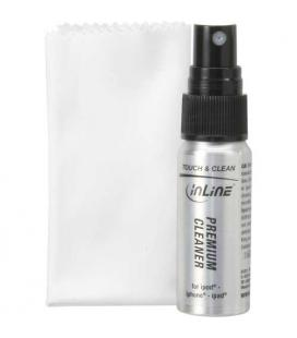 Inline 43201. Kit de limpieza para pantallas de Tablets y smart Phones. Spray 25ml