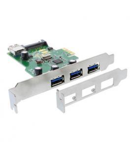 Inline 76662A. Tarjeta PCIeX1 3xUSB3.0 con SATApower
