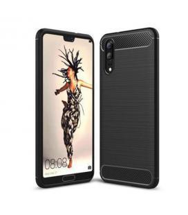 Funda de silicona negra para Huawei P20