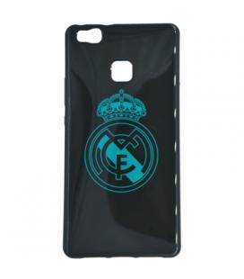 Real Madrid Carcasa Huawei P9 Lite Negra Escudo