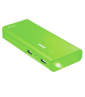 Batería externa trust urban green primo powerbank 10000mah - usb 5w/1a + usb 10w/2.1a - 2xcable microusb - func. linterna -