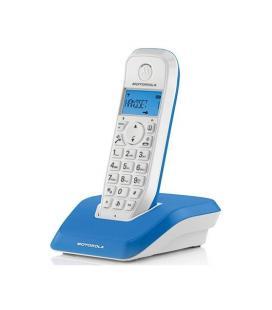 TELEFONO INALAMBRICO DECT DIGITAL MOTOROLA S1201 AZUL