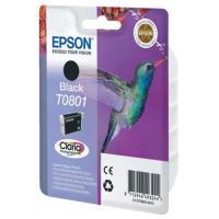 Cartucho tinta epson 7,4 ml negro t0801 - colibri
