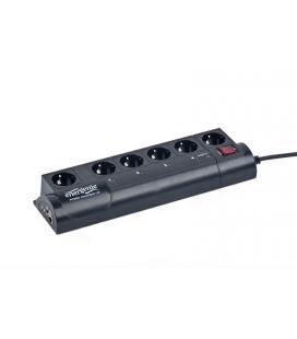 Gembird EG-PMS2 6AC outlet(s) 250V 1.8m Negro limitador de tensión - Imagen 1
