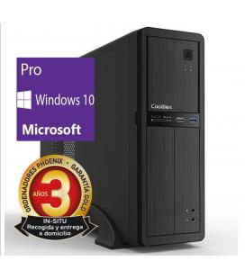 Ordenador de oficina phoenix oberon pro intel core i3 7º gen 4gb ddr4 240 gb ssd rw windows 10 profesional micro atx slim  pc so