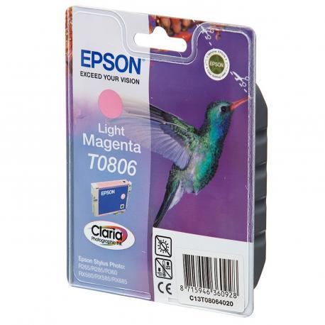 CARTUCHO MAGENTA CLARO EPSON T0806 - Imagen 1