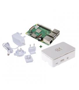 Raspberry kit Pi 3 B+ + caja blanca + fuente blanc