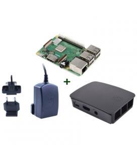 Raspberry kit Pi 3 B+ + caja negra + fuente negra - Imagen 1