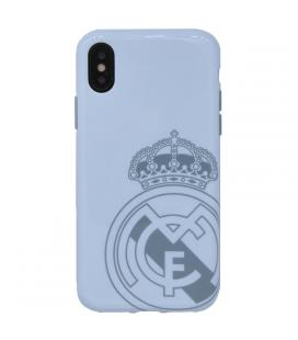 Real Madrid Carcasa iPhone X Blanca Escudo