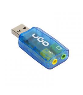 Tarjeta de sonido externa ugo ukd-1085 - usb - plug and play - 5.1 - entradas de micrófono y auriculares